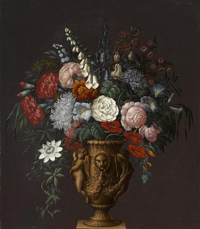 Flowers In A Classical Vase By Sebastian Wegmayr On Artnet