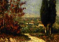 paesaggio con albero by guiseppe camona