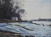 looking towards the weird (+ landing a fish, r. blackwater, careysville; pair) by william ellis barrington-browne
