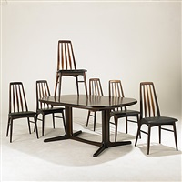 dining table and chairs (7 works) by koefoeds-hornslet