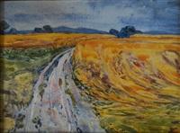 les champs de blé, près geroldswil, cton zürich (près dietikon) by hugo frey