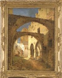 orientalische straßenansicht by andreas achenbach