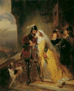 die verabschiedung des landgrafen ludwig iv von thüringen durch seine gemahlin elisabeth die spätere hl elisabeth by nicaise de keyser