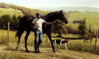 african-american man leading the bay by john leone