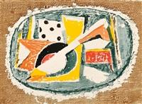 three artist's proofs: mandolin au dé by marcel janco