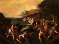 kämpfende soldaten vor einer küste by anonymous-italian (17)