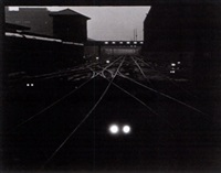 a night view of trains by gordon h. coster