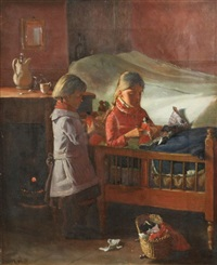 opening the presents by hans andreasen hessellund