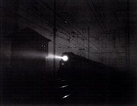 a locomotive at night by gordon h. coster