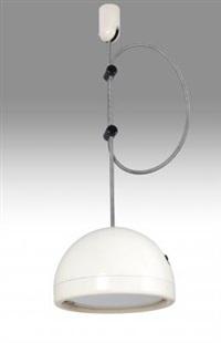 una lampada a sospensione spring (modello 4483) by joe colombo