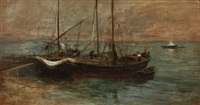 harbor scene by adolphe appian