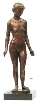 stående naken flicka by paul cornet