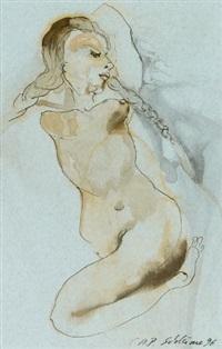 ohne titel (weiblicher akt) by cornelia schleime