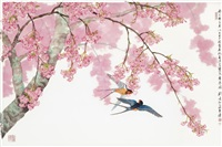 swallows by spring blossoms by liu yong