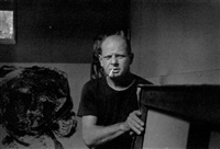 jackson pollock at east hampton by tony vaccaro