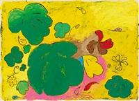 bloom. komposition mit unterschiedlich geformten blüten in intensiver farbgebung by louisa chase