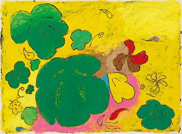 bloom komposition mit unterschiedlich geformten blüten in intensiver farbgebung by louisa chase