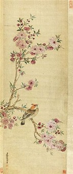 富贵闲雅 (flowers and bird) by qian weicheng