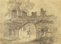 stadttor von aosta (+ mühle, lrgr; 2 works) by alexandre maurice almeras