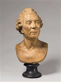 portrait bust of georges-louis leclerc, comte de buffon by jean-antoine houdon