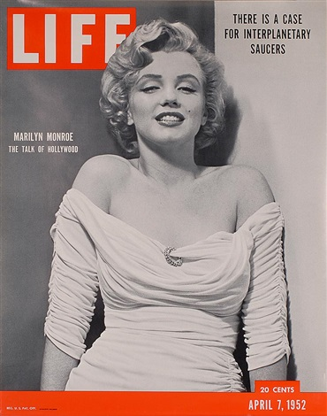 marilyn monroe on the cover of life magazine by philippe halsman