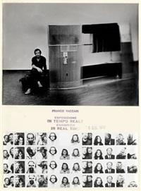 esposizione in tempo reale (2 works) by franco vaccari