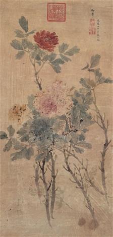 富贵图 peony by empress dowager cixi