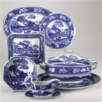covered soup tureen w/ladle in fallow deer pattern (+ 18 others; 19 works) by wedgwood