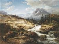schmuggler an einem reißenden gebirgsbach by jacob jacobs