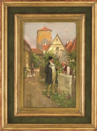 dörflicher plausch by wilhelm roegge the younger