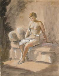 joven en un interior by manuel humbert