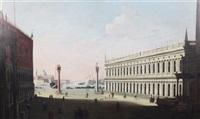 st. mark's square; view of the harbour, venice (pair) by francesco guardi