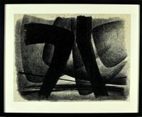 abstrakte komposition in schwarz by jürgen von hündeberg