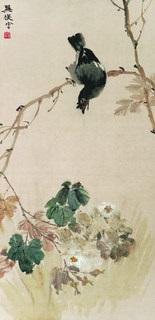 bird and flowers by xun fu