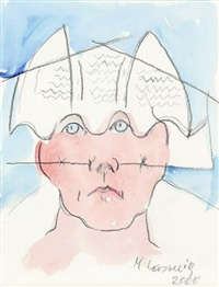 untitled by maria lassnig