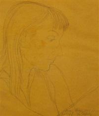 bo peep, portrait of a young woman by enrique alferez