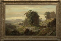 panoramic autumnal landscape by henry w. kemper