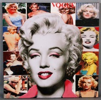 pop marilyn collage white border by steve kaufman