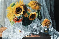 sunflowers and drape by robert lemay