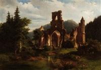 klosterruine im schwarzwald by johann-rudolf holzhalb