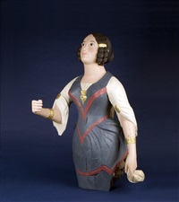 figurehead of a woman in ringlets and period attire by scottish school (19)