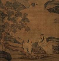 林泉听琴图 (landscape and character) by ren liyuan