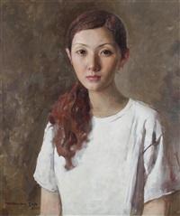 女孩肖像 (portrait of young girl) by yuan zhengyang