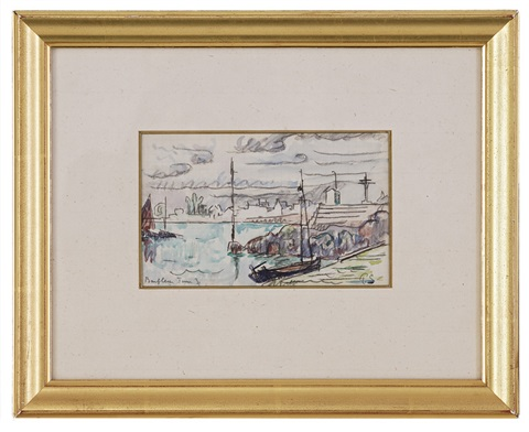 le port de barfleur by paul signac