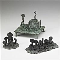 mushroom garden; lollipop field; lollipop field ii (3 works) by klaus ihlenfeld