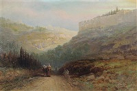 view of jerusalem with travelers on the roadside by samuel lawson booth