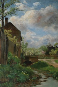 the old mill by george loring brown