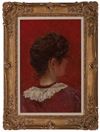 study of a woman's head by william john hennessy