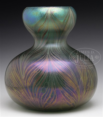 Tiffany Favrile Glass Pulled Feather Vase By Tiffany Studios On Artnet