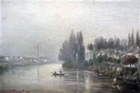 river landscape by charles edmond renault